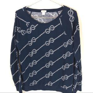 J. Crew Factory long sleeve chain pattern T-shirt